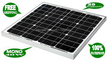 40W 18V monocrystalline solar panel / solar module  for charging 12V battery  used for home/ lighting / camping