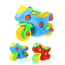 DIY Screw Nut Group Installed Puzzle Toys Plastic 3D Puzzle Disassembly Motorcycle Kids Toys For Children Early Education Toys(China)