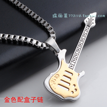 famous brand 925 Sterling silver boyfriend gift Fashion Retro Baroque palace pendant guitar Men's jewelry boys necklace romantic