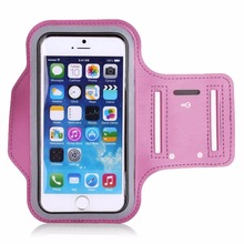 New Adjustable Running SPORT GYM Armband Bag Case For ipod touch 5 Waterproof Jogging Arm Band Mobile Phone Belt Cover Pink Gift(China)