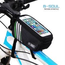 B-SOUL Bicycle Mobile Phone Pouch 5.7 inch Touch Screen Top Frame Tube Storage Bag Cycling MTB Road Bike Bycicle Bags(China)