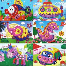 New Hot Sale DIY Children Sticker Toys 3D Crystal Mosaics Art Princess Butterflies Sticker Game Craft Art Sticker