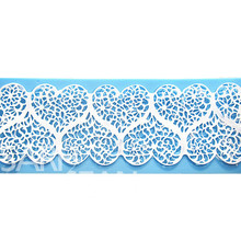 L094 heart love lace instant lace mold cake mold silicone baking tools kitchen accessories decorations for cakes Fondant