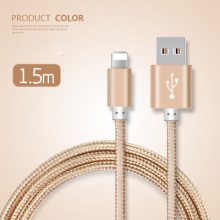 Newest  Braided Nylon Line And Metal Plug Original Micro USB Cable for iPhone 7 /type-c 1.5M  Data Charger Cable for iPhone
