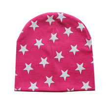 2017 Fashion Baby Hat Cotton Newborn Infant Star Printing Cap Spring Summer Kids Girl Boy Hats Caps Hot Sale