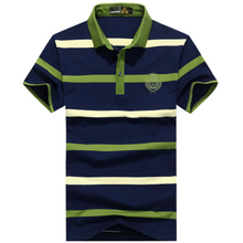 Super Sale Brand Classic Striped Polo Shirts For Men Short Sleeve You Must Have Quality Guarantee Performance Tops(China)