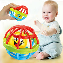 Teether Rolling Rattles Sound Baby Ball Grasping Bell Baby Infant Toddler Soft Plastic Fun Toys Little Loud Educational Learning