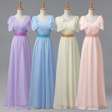 Summer Elegant Women High Waist Chiffon Bridesmaid long Dresses Wedding Formal Bridemaid Dress Long Maxi Prom Party Ball Gown