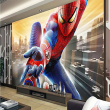 beibehang Photo background wallpaper photography US film Spider-Man trapeze bathroom Hotel wall art mural murals-3d wall papers