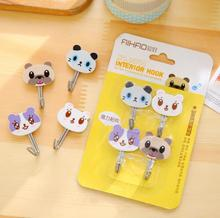 AIHAO Cute Cat & Dog Strong Self-Adhesive Wall Hook Hanger Bag Keys Bathroom Kitchen Sticky Towel Holder