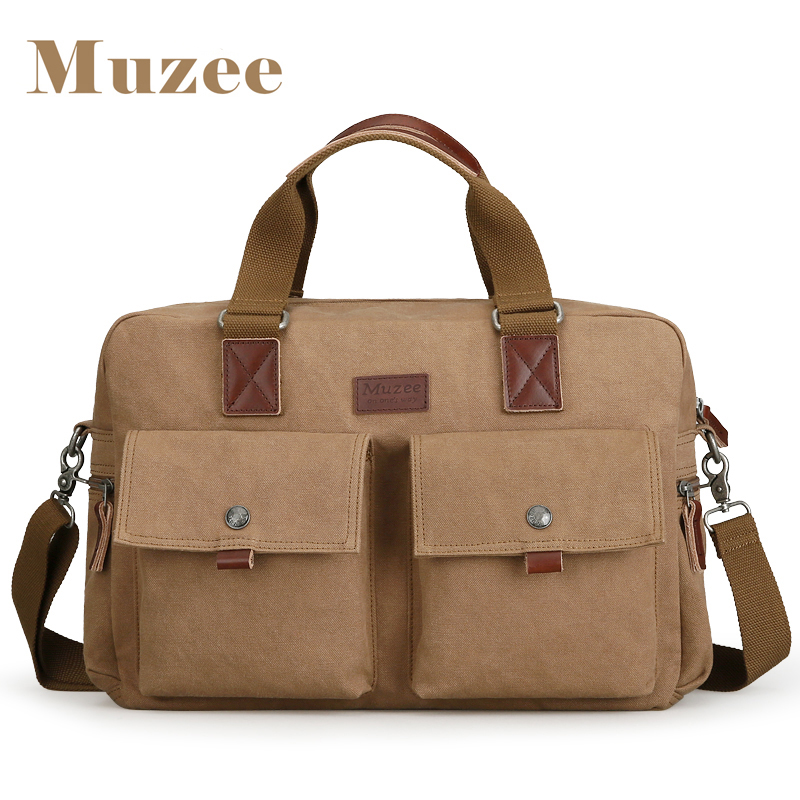 Muzee 2017 Large Capacity Briefcase Handbag Fit for 15.6 inch Laptop Crossbody Bag Multifunction Shoulder Bag Two Colors Options<br>