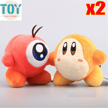 "New 2pcs Super Mario Star Kirby Adventure Waddle Doo Waddle Dee Plush Doll 5.5"" Anime Juguetes Toys Collection Kids Gift"