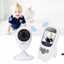 SUNLUXY 2.4'' Color Video Wireless Baby Monitor Night Light Babyphone Security Camera 2 Way Talk Digital Zoom Music Temperature(China)