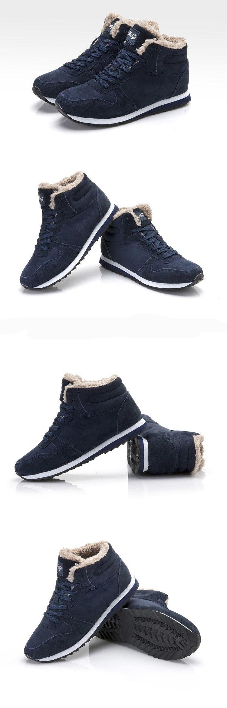 New Couple Unisex Super Warm Man Boot Fashion Men Winter Snow Boots Keep Warm Boots Plush Ankle Work Shoes Men Snow Boots 36-48 23