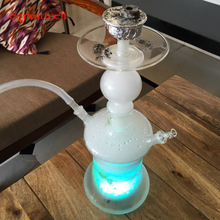 Glass Hookahs Smooking pipe and smoking nargile with Remote Multicolor LED and hookah bowl chicha and hookah bar(China)