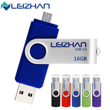 LEIZHAN Android Phone OTG USB Flash Drives USB 2.0 Flash Disk 4G 8G 16G 32G 64G USB Flash Pen Drive Pendrives Memory Minision
