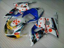 Perfect fit for SUZUKI Fairing kit GSXR 600 GSXR 750 K1 K2 2001 2002 2003 blue white DARK DOG fairings  gsxr600 gsxr750 01 02 03