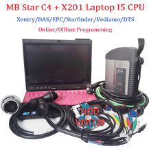 Wifi MB Star C4 SD Connect with V2017.12 HDD Diagnostic Interface MB Star C4 Work with I5 X201 Laptop Support Online Programming(China)