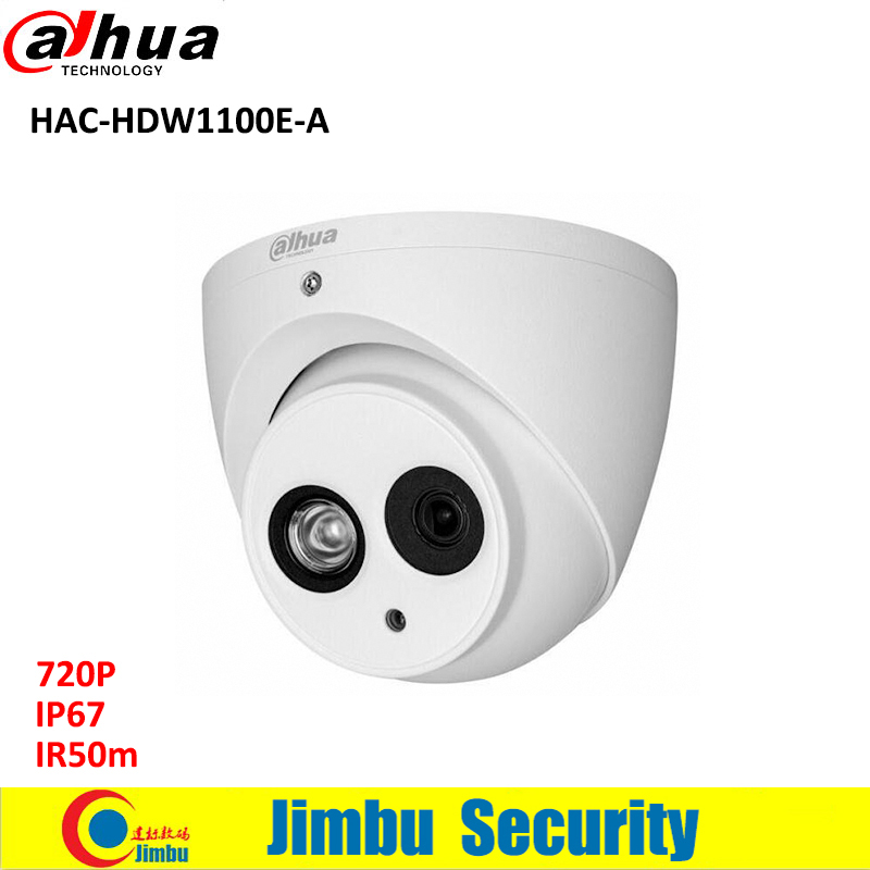 DAHUA HDCVI 720P DOME Camera HAC-HDW1100E-A CMOS 1MP IR 50M IP66 security camera built in mic PAL signal cctv camera<br>