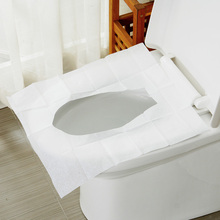 10Packs=100Pcs=1Lot Disposable Toilet Seat Cover Mat 100% Waterproof Travel Portable Toilet Paper Pad (