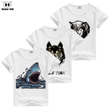 DMDM PIG Kids Clothes Boys T Shirt Shark Baby Boy Girl Clothes T-Shirt Children's Clothing Boys T Shirt T-Shirts For Girls Boys
