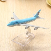 New Arrival B747 Air Aircraft Model 16cm Airline Airplane Aeroplan Diecast Model Collection Decoration Best Cool Gift For Boys