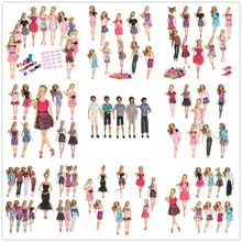 2017 Beautiful 50 PCS/set Handmade Party Clothes Fashion Dress for Barbie Doll Mixed style Dress