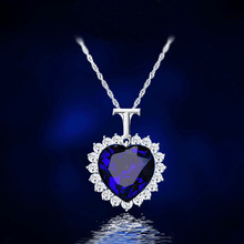 1PC Hot Fashion Trendy Charming Blue Heart Pendant Long Chain Women Lady Girl Ocean Heart Necklace