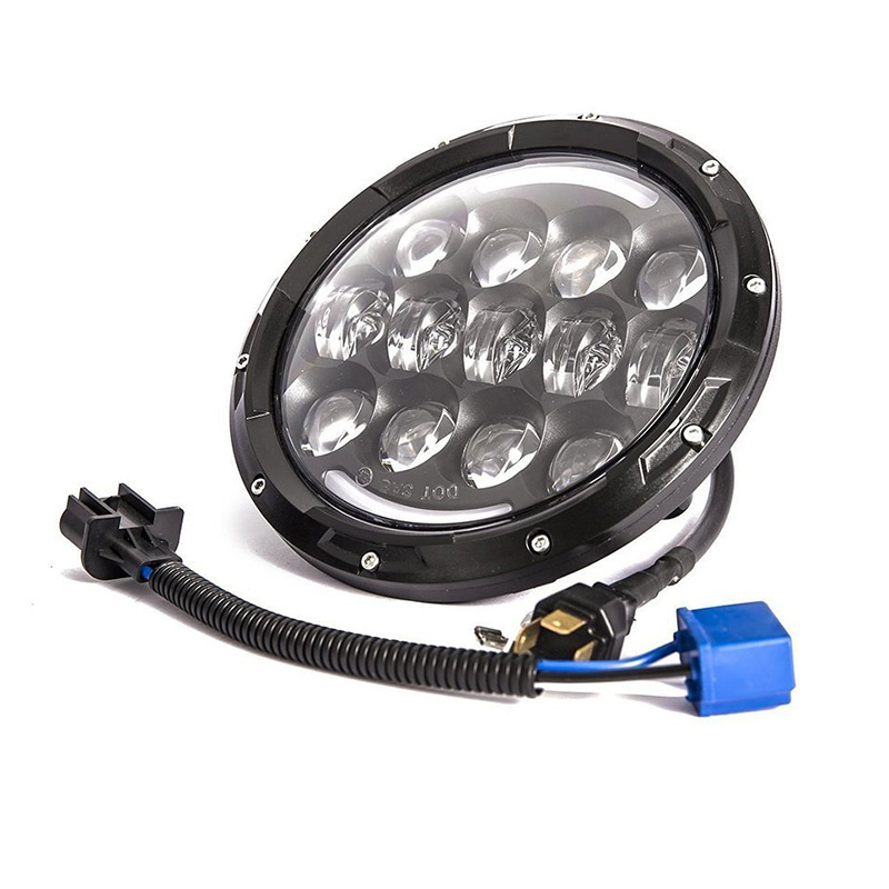 FADUIES Super Bright 12V 105W H4 7 inch led headlight with White DRL Yellow Turn Signal Lamp For AM General Hummer 1992~2001 (5)