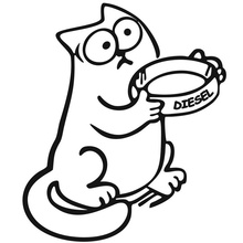 11.6*13.5CM DIESEL Simon's Cat Car Styling Animal Decals Tank Cover Decoration Stickers Accessories C1-4032