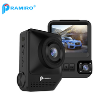PRAMIRO 2.3 Inch Dual Lens Camera Car DVR Novatek 96658 Sony 323 Sensor Registrator Car Camera T818 With WDR Drive Recorder(China)