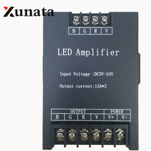 5V/12V/24V 45A Led RGB Amplifier Controller Signal Repeater 15A x 3CH Newest
