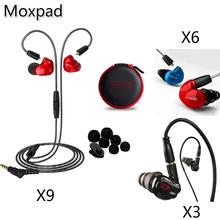 Moxpad Original Earphones Detachable Cable X3/X6/X9 Universal 3.5mm Dynamic Headsets Noise Isolating In Ear Headset With Mic