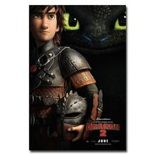NICOLESHENTING How To Train Your Dragon 2 Movie Art Silk Poster 12x18 32x48 Hiccup Toothless Pictures Bedroom Living Room  005