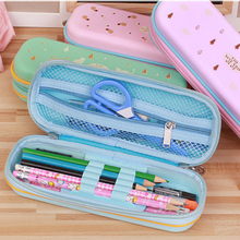 manufacturers selling new zipper children stationery pen pencil box primary environmental protection PE 21*8*3cm 90g(China)