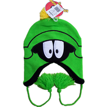 Marvin the Martian Plush Beanie Ear Flaps LOONEY TUNES Hat Bugs Bunny Cap For Ladies Boys Girls Kids Women Men Knit Balacava