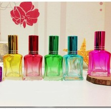 15ml Fashion Color Glass Perfume Bottles Wholesale Skin Care Tools Best Gift for Women  10pcs/lot DC485