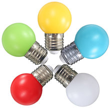 Newest Colorful LED Light Bulb E27 Energy Saving Light Globe Golf Ball Lamp 1W 2W 3W Home Decor Lighting AC220V(China)