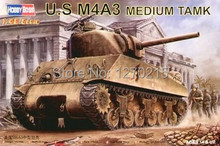 Hobby Boss 84803 1/48 U.S M4A3 TANK plastic model kit(China)