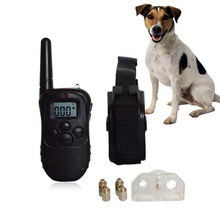 Remote Pet Dog Training Collar Battery Styles 100 Level 300M Electronic Control Anti Bark Dog Shock With LCD Display