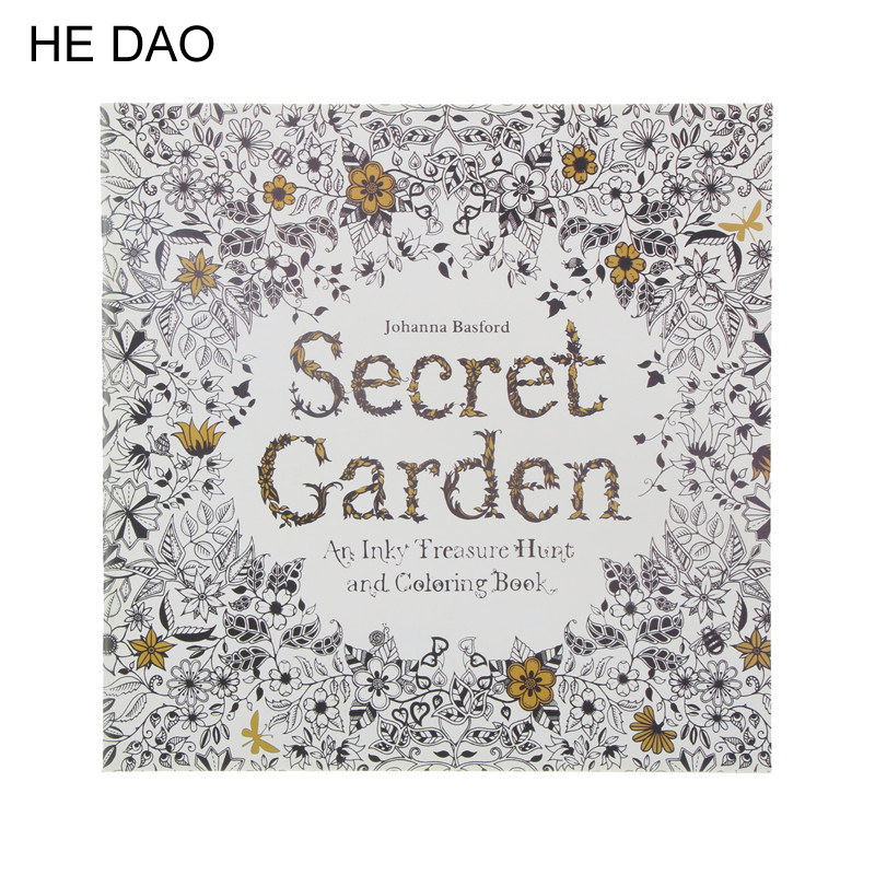 24 Pages Secret Garden English Edition Coloring Book For Children Adult Relieve Stress Kill Time Painting Drawing Book(China)
