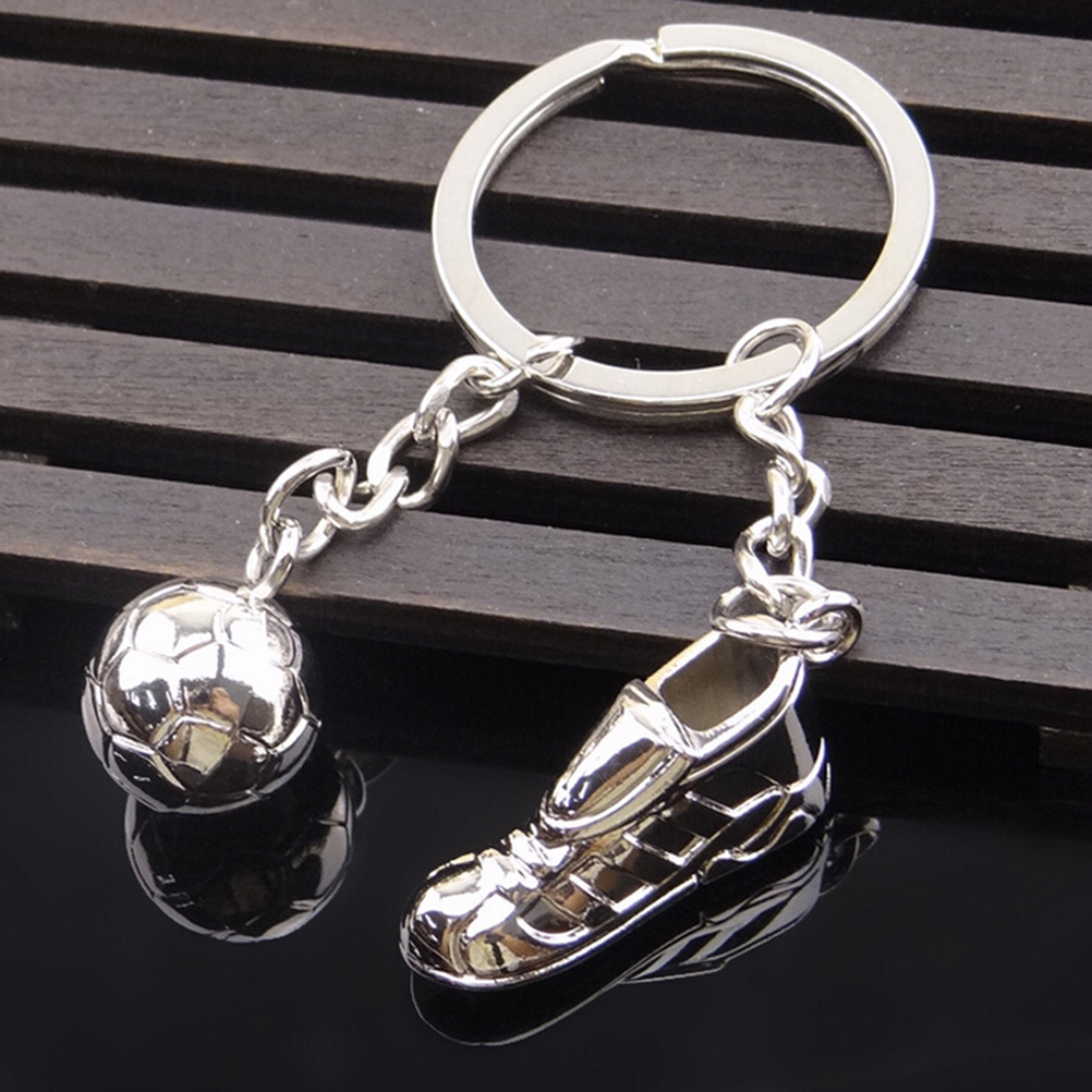 Football Boot with Ball Keychain Key Ring