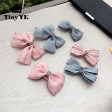 New Arrival Girl Kids Baby Bow Hairpins Bowknot Hair Clip Children Barrette Hair Accessories Full Cover Clips(China)