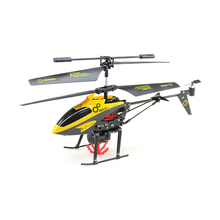 RC Helicopter 3.5CH 3.5 Channel RC Drone Gyro Crash Resistant with Basket RC Toys Kids Boy Gift Yellow(China)