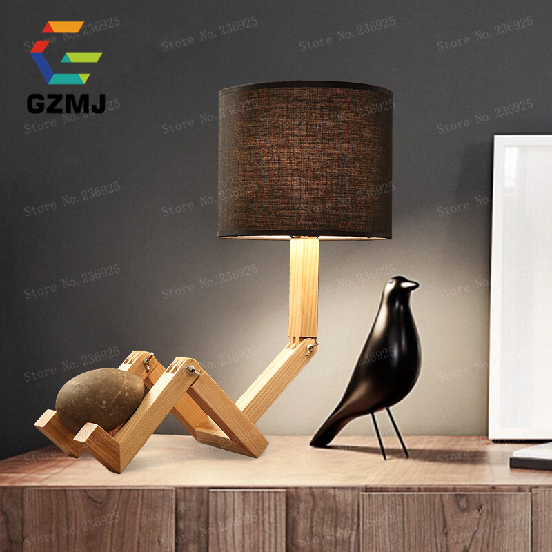 DIY Adjustable LED Table Lamp White/Black Bedside Reading Study Foldable Desk Light for Student Dorm Room American Country Style<br><br>Aliexpress