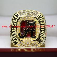 2016-2017 Alabama Crimson Tide SEC NCAA National Football Championship Copper Ring 8-14 Size