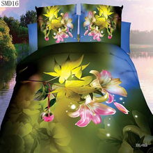 Special offers 3d series bedding set the queen size include pillowcase duvet cover bed sheet fast shipping big sale