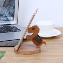 Wooden Horse Desk Phone Holder Universal Mobile Phone Stand Mount For iPhone Samsung Sony Nokia HTC Cellphone(China)