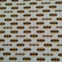 180X100cm White Batman Logo Knitted Cotton Fabric for Baby Clothes Sewing Textile Tilda Tecido Patchwork DIY-AFCK017
