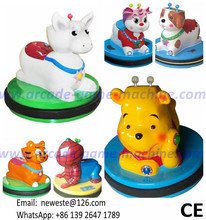 Children Coin Operated Game Machine Small Battery Animal Bumper Cars(China)